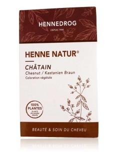 Coloration châtain cheveux henné 90 g - Henné Natur - Hennedrog Hennedrog henné naturel fabrication française