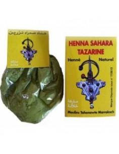 Henné Tazarine BAQ Naturel Reflets Cuivrés boîte jaune 100 g  Colorations Cheveux Naturelle