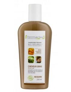 Dermaclay Shampoing bio cheveux gras 250 ml Dermaclay shampooing bio Shampooings