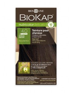 Nutricolor Delicato Rapid Chatain naturel 4.00 - Biokap BioKap coloration , spray retouches et shampoings Colorations Cheveux...
