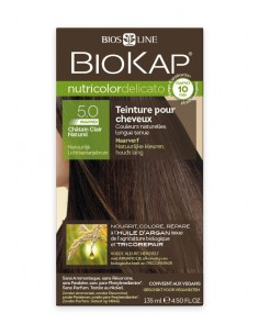 Nutricolor Delicato Rapid Chatain clair naturel 5.0 - Biokap BioKap coloration , spray retouches et shampoings Colorations Ch...