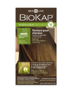 Nutricolor Delicato Rapid Blond moyen naturel 7.0 - Biokap BioKap coloration , spray retouches et shampoings Colorations Chev...