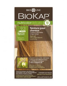 Nutricolor Delicato Rapid Blond très clair doré 9.30 - Biokap BioKap coloration , spray retouches et shampoings Colorations C...