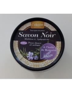 Savon noir à l'huile de romarin 250 g Cokoon argiles pour soins cosmétiques naturels Visage et Corps