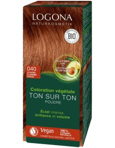 Logona cuivre flamme froid n°40 poudre coloration cheveux bio Logona Colorations Cheveux Naturelle