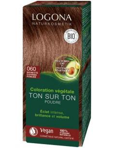 Logona noisette cuivrée foncée N°60 coloration végétale bio Logona Colorations Cheveux Naturelle
