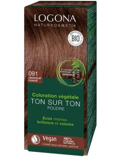 Logona chocolat chaud n°91 coloration végétale bio Logona Colorations Cheveux Naturelle