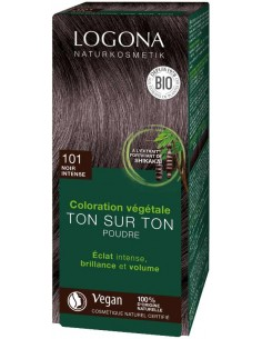 Logona noir intense N°101 coloration végétale bio Logona Colorations Cheveux Naturelle