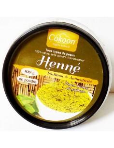 Henné pur lawsonia inermis 100 g - Cokoon Cokoon argiles pour soins cosmétiques naturels Colorations Cheveux Naturelle