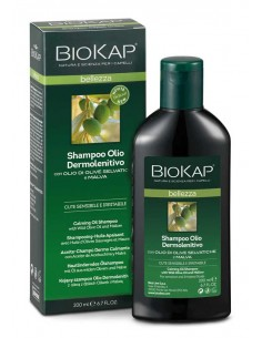Shampoing huile apaisant irritations Biokap 200 ml BioKap coloration , spray retouches et shampoings Shampooings