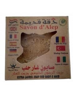 Savon d'Alep à 22% d'huile de baies de laurier 200 g  Visage et Corps