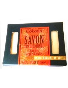 Savon aux agrumes et argile blanche Cokoon 100 g Cokoon savon noir et argile cosmétique naturelle