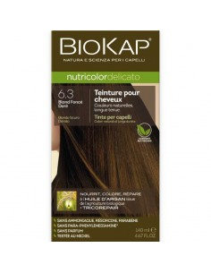 Biokap coloration bio blond foncé doré 6.30 Nutricolor Delicato BioKap coloration bio , spray retouches et shampoings