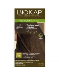 Biokap coloration bio chatain miel clair 5.34 Nutricolor Delicato BioKap coloration bio , spray retouches et shampoings Color...
