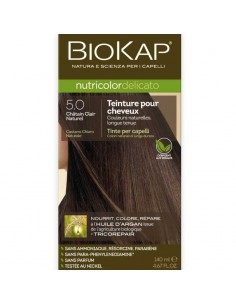 Biokap coloration bio chatain clair naturel 5.0 Nutricolor Delicato BioKap coloration bio , spray retouches et shampoings