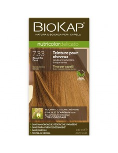 Biokap coloration bio blond blé doré 7.33 Nutricolor Delicato BioKap coloration bio , spray retouches et shampoings