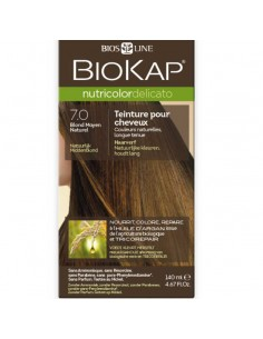 Biokap coloration bio blond moyen naturel 7.0 Nutricolor Delicato BioKap coloration bio , spray retouches et shampoings