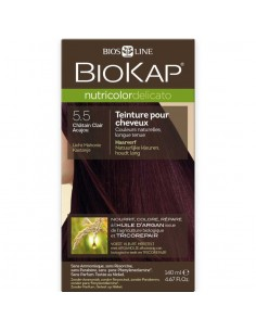 Nutricolor Delicato châtain clair acajou 5.50 - Biokap BioKap coloration , spray retouches et shampoings Colorations Biokap a...