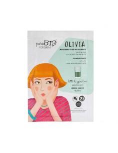 Masque peau grasse peel-off hydratant matifiant lait de spiruline PuroBio Puro bio Cosmétiques Visage et Corps