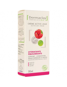 Crème de jour hydratante équilibrante visage 50 ml Dermaclay Dermaclay shampooing bio Visage et Corps