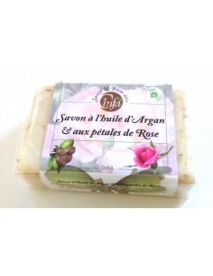 Savon à l'huile d'argan et aux pétales de rose 100 g