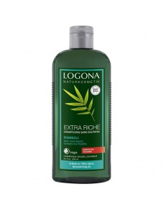 Shampoing Logona bambou bio nourrissant anti-frisotis 250 ml Logona