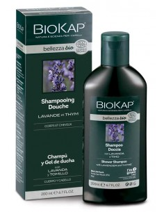 Shampoing douche Biokap Belleza cheveux et corps 200 ml BioKap coloration , spray retouches et shampoings Shampoings Biokap