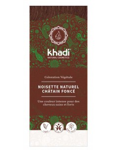 Khadi noisette coloration bio naturelle plantes ayurvédiques 100 g Khadi Coloration Khadi