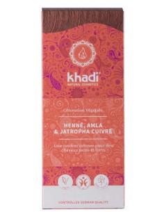 Coloration végétale khadi henné, amla et jatropha cuivre rouge Khadi Coloration Khadi