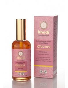 Khadi Huile de Lotus rose visage et corps peaux mixtes et impures 100 ml Khadi