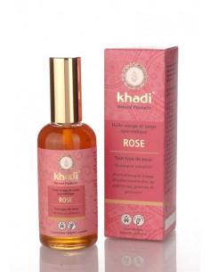 Khadi Huile de rose de Damas ayurvédique peau sèche 100 ml Khadi