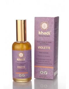 Khadi huile ayurvédique de violette hydratante peaux normales 100 ml Khadi