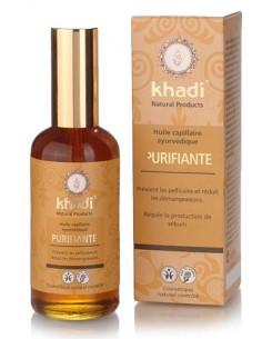 Khadi huile capillaire ayurvédique purifiante et équilibrante 100 ml Khadi