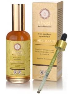 Khadi huile capillaire revitalisante 100 ml  Huiles Végétales et Sérums