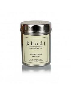 Henné Neutre Cassia Soin naturel des Cheveux 150 g - Khadi Khadi Colorations Cheveux Naturelle
