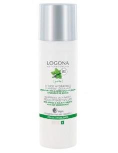 Logona fluide hydratant bio jour & nuit menthe et acide salicylique 30 ml Logona Visage et Corps