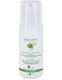 Logona mousse nettoyante clarifiante menthe et acide salicylique 100 ml Logona
