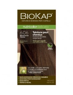 Biokap coloration bio Blond foncé havane 6.06 Nutricolor Delicato BioKap coloration bio , spray retouches et shampoings
