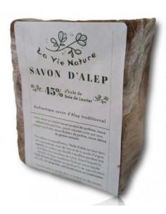 SAVON D'ALEP 45% HUILE DE BAIES DE LAURIER 200 g - La Vie Nature La Vie Nature